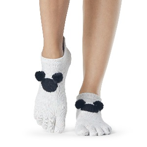 Disney 한정판 ToeSox Grip F/T Low Rise PomPom Mickey